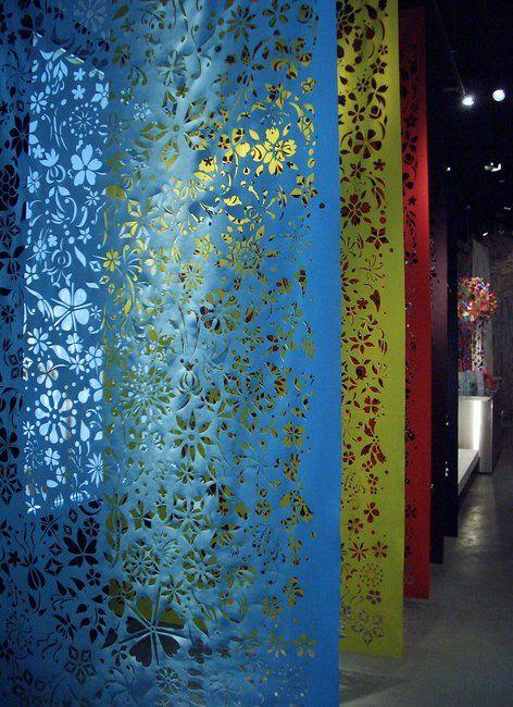 'Fallen Flowers' textile - laser cut microfibre : Studio Tord Boontje for Moroso