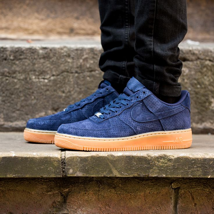 separation shoes 8ff37 8d217 Nike Air Force Navy Suede .