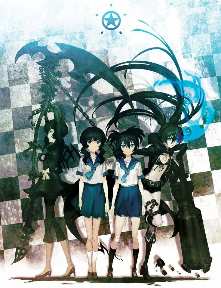 Dead Master, Takanashi Yomi, Kuroi Mato, and Black Rock Shooter