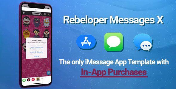 Download Free Rebeloper Messages v12 - iMessage App in Swift