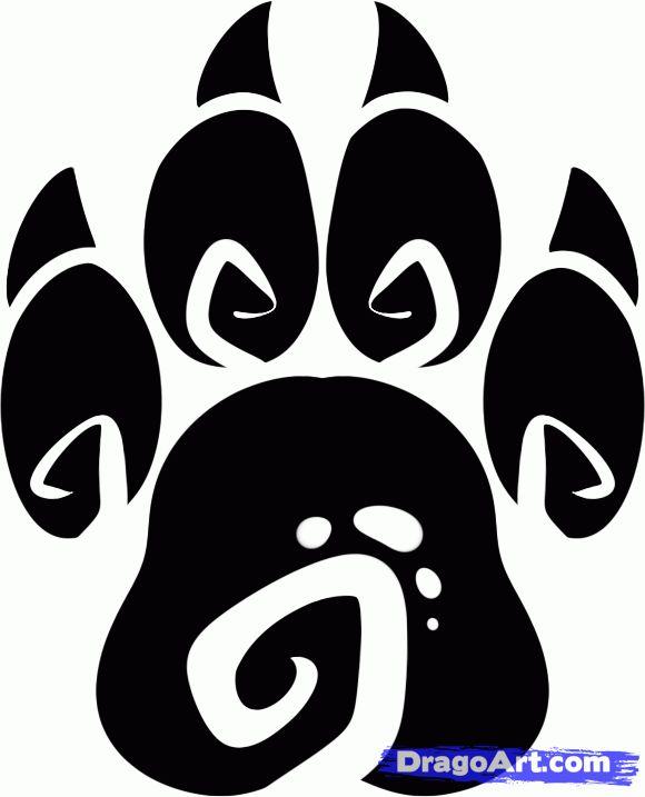 How to Draw a Tribal Paw, Tribal Paw Print, Step by Step, Tribal ...