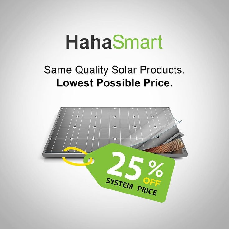 Get the Same Quality Solar Products at the Lowest Possible Price. We help you buy directly from top manufacturers instead of wasting your money on middlemen.  _____________________________ Check Your Home Solar Price Now by Clicking in the Link in Our Bio! _____________________________ HahaSmart is the most affordable way to go solar in 2017. We make going solar affordable easy and fun! Using our revolutionary new business model homeowners can now save thousand of dollars by going directly…