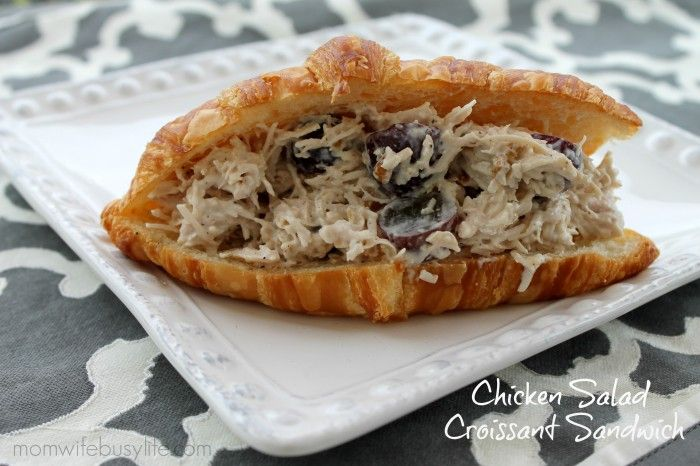 Chicken Salad Croissant Sandwiches #Recipe