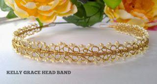 Emily Secret Passions: New Wirework Jewelry Tutorial ~ Lotus Tiara & Kelly Grace Head Band