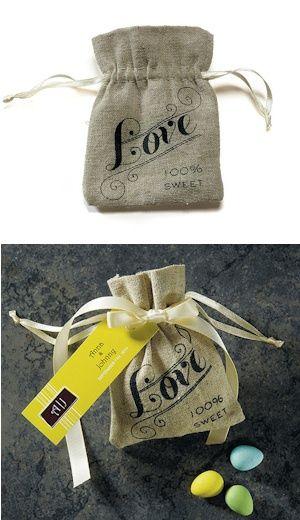 Vintage Love Mini Drawstring Linen Pouch