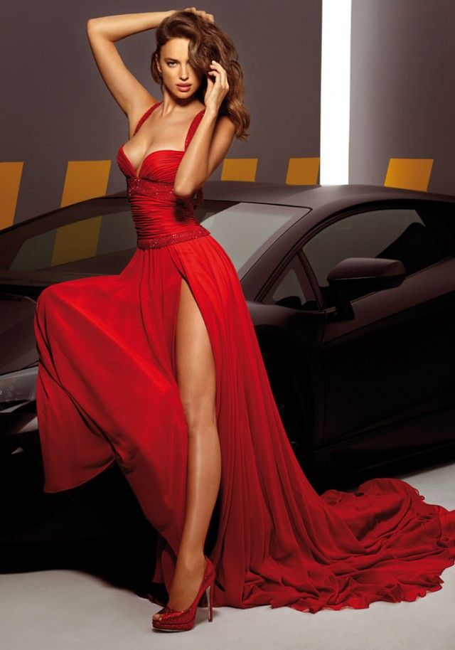 Saying yes to this dress. Irina Shayk for Alessandro Angelozzi Couture 2013.
