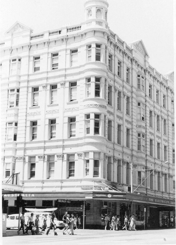#Adelaide | Grand Central Hotel (later Foy and Gibson's and Electricity Trust of South Australia), south-east corner of Rundle and Pulteney Streets. Constructed in 1910 and demolished in 1975-6 to make way for a multi-storey carpark <--- Sacrilege!
