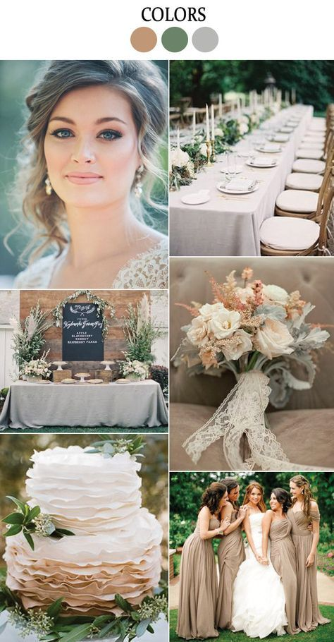 Dried Herb: Pantones 2015 Fall Wedding Color Inspiration from B&E Lucky in Love Wedding Blog #driedherb #weddingplanning #weddingcolors