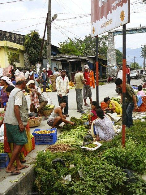 Gemüsemarkt in Nepal