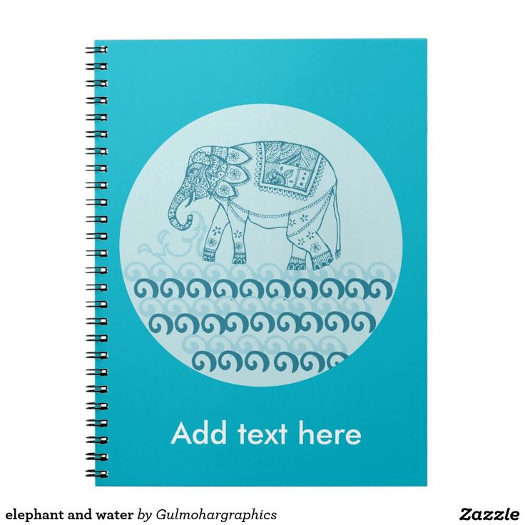 elephant and water spiral notebooks