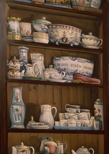 trompe l'oeil China Cabinet by James Alan Smith