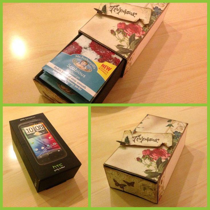Man kan alltid förvandla sin gamla mobillåda till något vackert och användbart! Från: Facebook / grupp Återbruka mera!