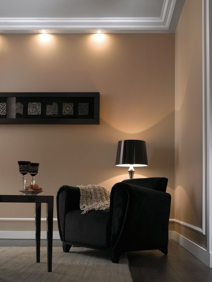 Lighting Solutions Coving Fitted With Spot Lights For A Downlighting Effect