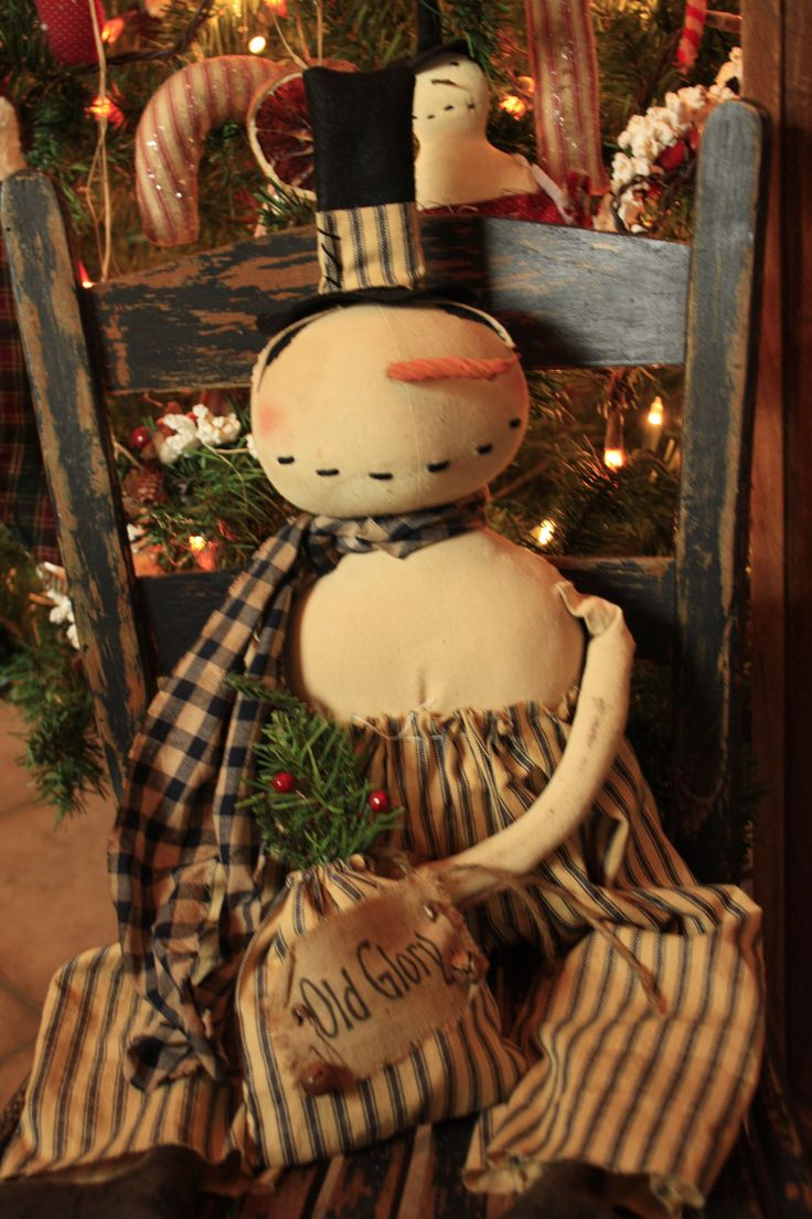 52 best primitive snowman dolls images on pinterest for Americana crafts to make