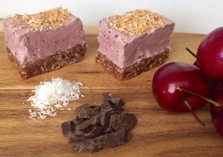 Cherry Coconut Slice