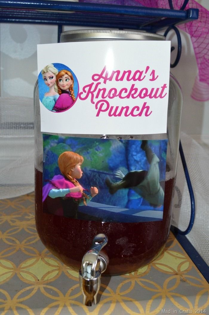 Frozen Birthday Party Punch - Anna's Knockout Punch