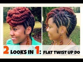 Naturally Michy | Flat Twist Hairstyles - YouTube
