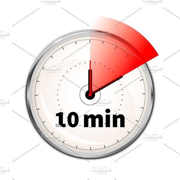 10 Minutes Timer Icon 10 Minute Timer Timer Clock Design