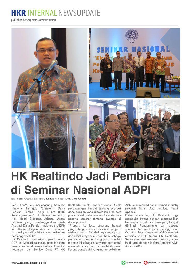 HK Realtindo Jadi Pembicara di Seminar Nasional ADPI