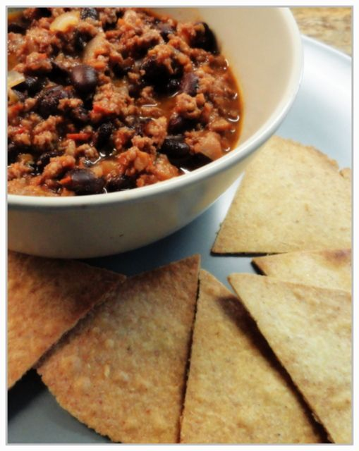 5:2 recipes    Black Bean Chilli con Carne with Tortilla Chips