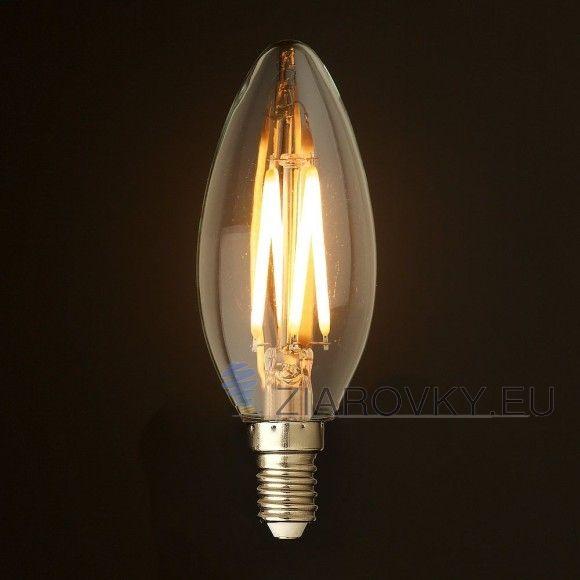 FILAMENT žiarovka - CANDLE - E14, Teplá biela, 2W, 280lm (3)
