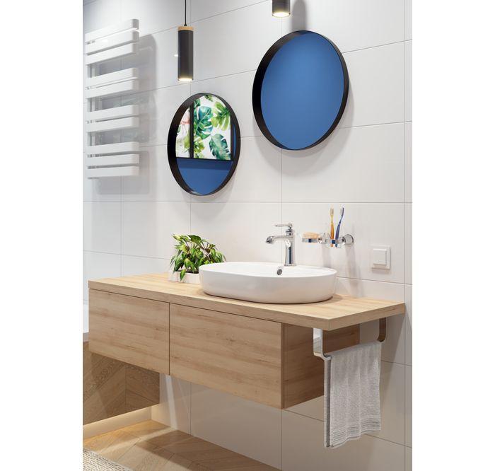 Jasna Lazienka Z Kolorowymi Akcentami Leroy Merlin Vanity Bathroom Vanity Bathroom