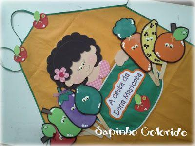 Sapinho Colorido: Avental de Histórias: A cesta da Dona Maricota!...