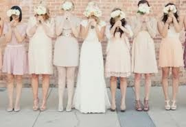 bridesmaid dress colour...matched with bright shoes and bouquet?