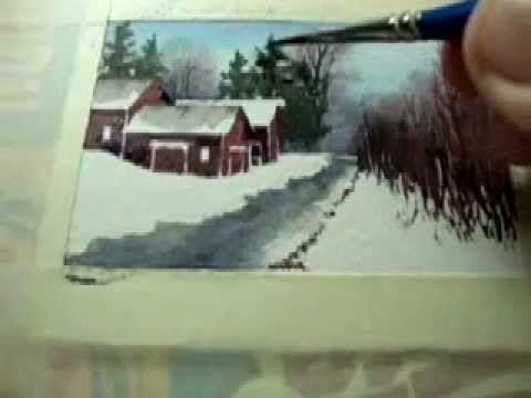 watercolor quicksketch color study demo - YouTube