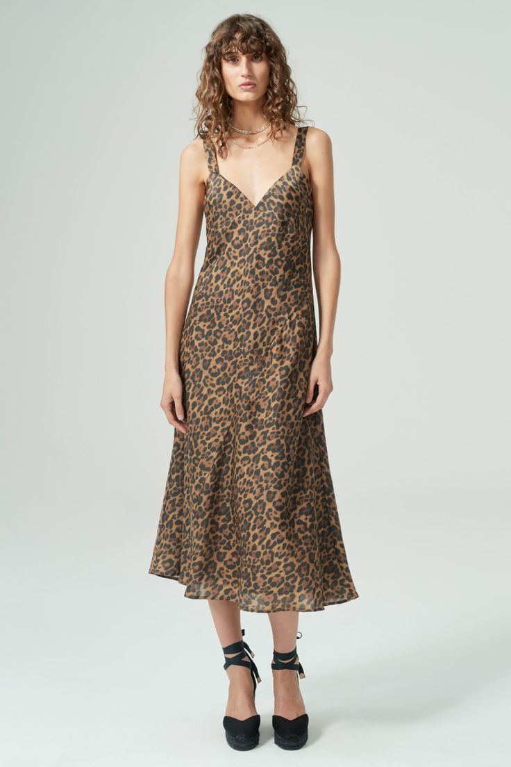 Hansen and Gretel - Goldie Silk Leopard Dress