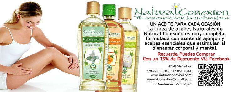 Para que tu cuerpo se sienta bien... Aceites Naturales Eucalipto, Naranja y Manzanilla. Conoce más de nuestros productos en http://www.naturalconexion.co/cuidado-corporal.html