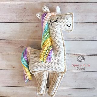 A beautiful ragdoll-style amigurumi unicorn crochet pattern to add a little sparkle to your day!