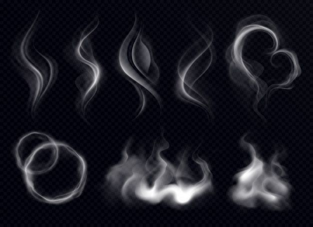 Download Steam Smoke With Ring And Swirl Shape Realistic Set White On Dark Transparent Background Isolated For Free Steam Icon Cartoon Smoke Dark Art Illustrations