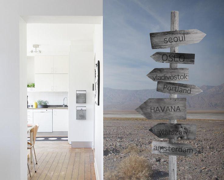 Cerchi una carta da parati da personalizzare? Possiamo inserire le vostre destinazioni o le citazioni sui cartelli. Potete avere una parete solo vostra!!!!!