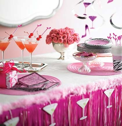 This Pink Bachelorette Party decorations theme is adorable!  These decorations are available at The House of Bachelorette-the ultimate Bachelorette Party Supplies store!