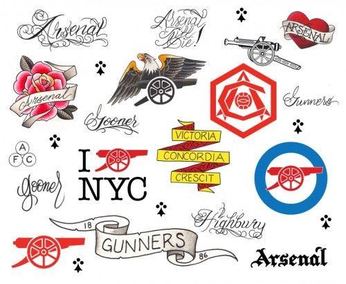 [tattoos] + [Arsenal] ARSENAL 1886 TATTOOS BY THREE KINGS TATTOOS
