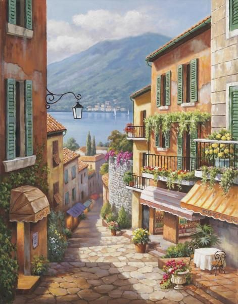 Sung Kim - Village Steps - Fine Art Print - Global Gallery