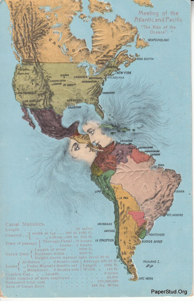 maptic:    Panama Canal - The Kiss Of The Oceans