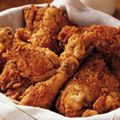 spicy southern fried chicken: A buttermilk marinade tenderizes the chicken and helps create a crisp, flaky crust while frying.