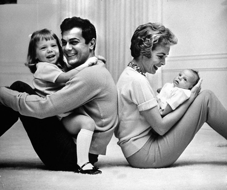 Tony Curtis, Janet Leigh, Jamie Lee Curtis and Sister.