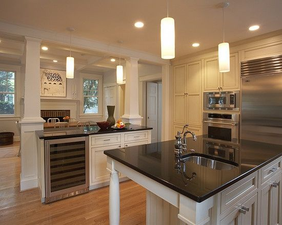 Half Walls In Kitchens | Traditional Kitchen Pass Through Design, Pictures,  Remodel,