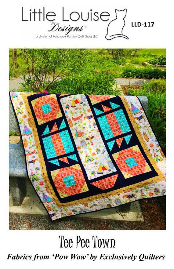 Baby Quilt Pattern  Tee Pee Town Crib Quilt pattern  PDF