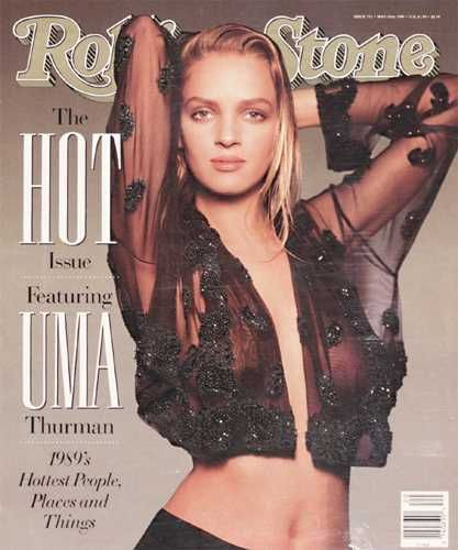 Uma Thurman - Rolling Stone Magazine [United States] (18 May 1989)