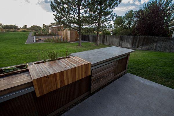 2611 Exterior On Behance In 2020 Concrete Diy Garden Exterior Design Concrete Retaining Walls