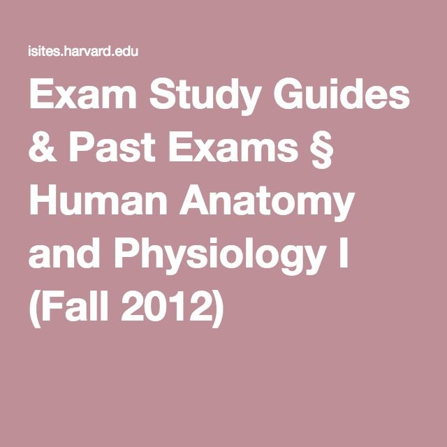 Exam Study Guides & Past Exams § Human Anatomy and Physiology I (Fall 2012)
