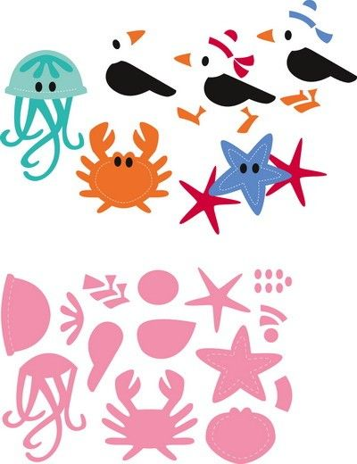 Marianne Design - Die - Collectables - Eline`s Seagull & friends - COL1433 Knutselruimte AGUINIJ