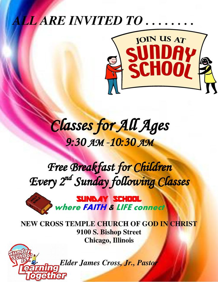 sunday school flyers thevillas co
