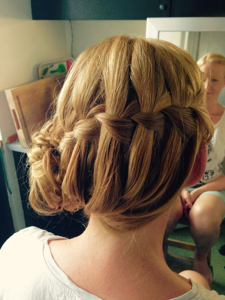 Waterfall updo
