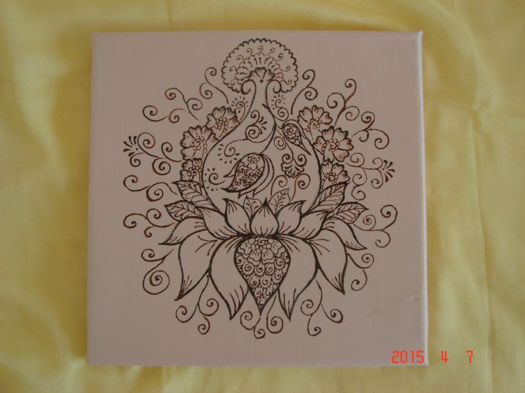 New to TheHennaGrove on Etsy: Henna painting from photo. Your special mehndi on canvas custom order (45.00 USD)