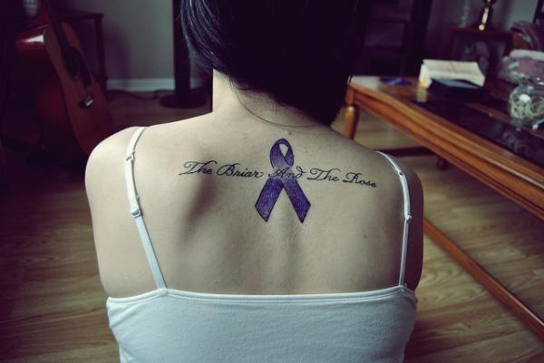 memorial blue ribbon 25 Endearing In Loving Memory Tattoos